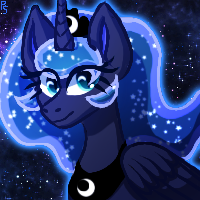 Size: 200x200 | Tagged: safe, artist:punkskunks, princess luna, alicorn, solo