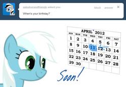 Size: 976x676 | Tagged: safe, artist:ask-fleetfoot, fleetfoot, pony, alternate hairstyle, ask-fleetfoot, calendar, solo