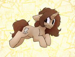Size: 3057x2340 | Tagged: safe, artist:tallaferroxiv, oc, oc only, pony, unicorn, female, floppy ears, horn, mare, messy mane, solo