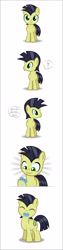 Size: 945x3775 | Tagged: safe, artist:culu-bluebeaver, oc, oc only, oc:lucky joe, earth pony, pony, colt, comic, cute, eyes closed, male, pacifier, simple background