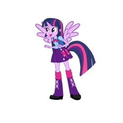 Size: 1280x1280 | Tagged: safe, derpibooru import, twilight sparkle, alicorn, human, equestria girls, horn, horned humanization, humanized, simple background, solo, tail, tailed humanization, transparent background, winged humanization, wings