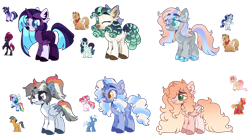 Size: 1280x708 | Tagged: safe, artist:transglimmer, derpibooru import, applejack, big macintosh, coloratura, fluttershy, pinkie pie, pokey pierce, quibble pants, rainbow dash, rarity, tempest shadow, twilight sparkle, twilight sparkle (alicorn), oc, oc:baby shower, oc:monochrome mystery, oc:orion storm, oc:peach tangle, oc:roswell apple, oc:sweet opal, alicorn, earth pony, pegasus, pony, unicorn, base used, colored pupils, curls, eye clipping through hair, female, fluttermac, freckles, lesbian, magical lesbian spawn, male, mare, offspring, one eye closed, parent:applejack, parent:big macintosh, parent:coloratura, parent:fluttershy, parent:pinkie pie, parent:pokey pierce, parent:quibble pants, parent:rainbow dash, parent:rarity, parent:tempest shadow, parent:twilight sparkle, parents:fluttermac, parents:pokeypie, parents:quibbledash, parents:rarajack, parents:rarijack, parents:tempestlight, pokeypie, quibbledash, rarajack, rarijack, shipping, simple background, stallion, straight, tempestlight, tongue out, transparent background, wink