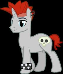 Size: 887x1033   Tagged: safe, artist:twilightsparkle0428, derpibooru import, crimson napalm, pony, equestria girls ponified, ponified, simple background, solo, transparent background