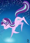 Size: 1280x1817 | Tagged: safe, artist:dawn-designs-art, starlight glimmer, pony, unicorn, abstract art, abstract background, commissions open, floating, minimalist