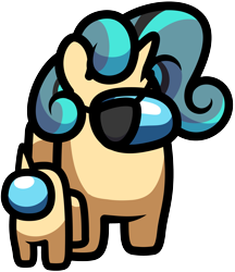 Size: 3001x3472 | Tagged: safe, alternate version, artist:pirill, derpibooru import, oc, oc only, oc:fidget, original species, pony, among us, crossover, eyepatch, female, horn, simple background, simple shading, solo, spacesuit, transparent background, vector