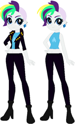 Size: 347x569 | Tagged: safe, artist:sturk-fontaine, derpibooru import, rarity, equestria girls, alternate hairstyle, alternate universe, base used, belly button, clothes, ear piercing, earring, jacket, jewelry, leather jacket, midriff, piercing, punk, raripunk, rocker
