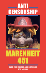 Size: 3000x4762 | Tagged: safe, artist:mkogwheel, artist:nignogs, artist:rhorse, pony, art pack:marenheit 451, /mlp/, cover, cover art, featured image, fire, fireman's hat, gas mask, hat, parody, scared