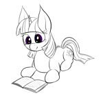 Size: 2497x2328 | Tagged: safe, artist:wapamario63, twilight sparkle, pony, unicorn, book, lying down, reading, solo