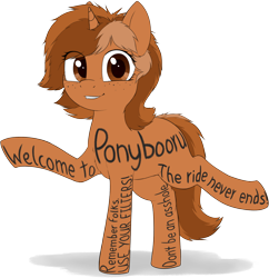 Size: 3198x3298 | Tagged: safe, artist:zippysqrl, ponybooru exclusive, oc, oc only, oc:sign, pony, unicorn, advertisement, body writing, cute, debate in the comments, featured image, female, freckles, looking at camera, meta, ponybooru, simple background, smiling, solo, this is the end, transparent background, vulgar
