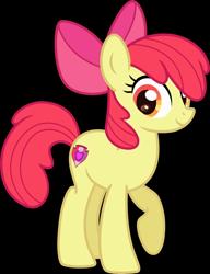 Size: 3500x4555 | Tagged: safe, artist:n0kkun, derpibooru import, apple bloom, earth pony, pony, apple bloom's bow, bow, female, hair bow, mare, older, older apple bloom, raised hoof, simple background, solo, transparent background