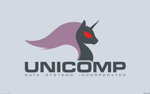 Size: 2560x1600 | Tagged: safe, artist:darkdoomer, derpibooru import, pony, unicorn, computer, design, logo, solo, unicomp