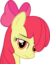 Size: 6000x7695 | Tagged: safe, artist:twilirity, derpibooru import, apple bloom, earth pony, pony, .svg available, absurd resolution, bust, female, frown, lidded eyes, looking at you, mare, older, older apple bloom, simple background, solo, transparent background, vector