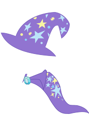 Size: 744x1052 | Tagged: safe, artist:billybobfm, trixie, cape, clothes, gem, hat, magic hat, no pony, simple background, transparent background, trixie's cape, trixie's hat, vector, wizard hat