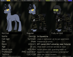 Size: 3672x2893 | Tagged: safe, artist:syntiset, oc, oc only, oc:syntiset, pony, unicorn, ankle boots, anti fragmentation glasses, armor, bags, balaclava, belt, blood type, boots, camouflage, clothes, escape from tarkov, eye clipping through hair, eyeglasses, glasses, goggles, happy, headphones, helmet, horn, looking at you, male, medical bag, medicine, microphone, military, military uniform, pants, patch, plate carrier, pony oc, radio, reference, reference sheet, shoes, simple background, sketch, smiling, smirk, solo, tourniquet, unicorn oc, uniform