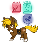 Size: 2048x2048 | Tagged: safe, artist:nyancat380, oc, oc only, oc:acres, earth pony, pony, blonde, blonde mane, blonde tail, brown coat, cowboy hat, earth pony oc, hazel eyes, lasso, looking up, male, raised hoof, raised leg, saddle bag, silhouette, simple background, solo, stallion, sword, text, transparent background, weapon
