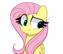 Size: 4096x3529   Tagged: safe, artist:kittyrosie, derpibooru import, fluttershy, pegasus, pony, blushing, cute, high res, looking at each other, shyabetes, simple background, white background