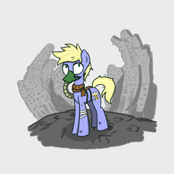 Size: 1280x1280   Tagged: safe, artist:superderpybot, oc, oc only, earth pony, pony, ambiguous gender, clothes, earth pony oc, gas mask, scarf, solo
