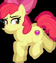 Size: 1927x2162 | Tagged: safe, artist:r4hucksake, derpibooru import, apple bloom, earth pony, pony, female, mare, older, simple background, smiling, solo, transparent background, vector
