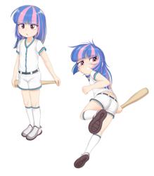 Size: 1449x1655 | Tagged: safe, artist:pestil, wind sprint, human, baseball bat, baseball jersey, explicit source, female, humanized, simple background, solo, underage, white background