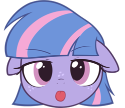 Size: 663x576 | Tagged: safe, artist:pestil, wind sprint, pegasus, pony, ears, female, filly, floppy ears, frown, looking at you, simple background, solo, tongue, tongue out, transparent background
